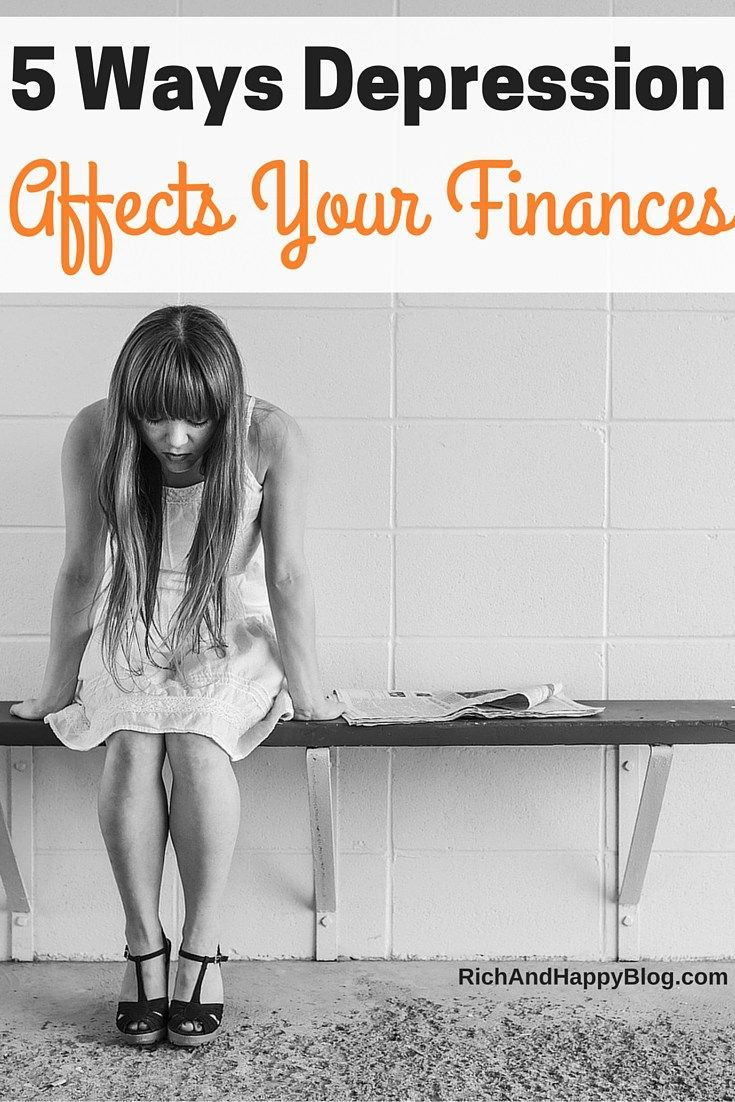 Did you know your mental health can have a serious impact on your finances? Find out how depression affects your finances here.