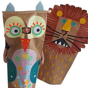 Let's Make Art -  DIY PaperSack Costumes©
