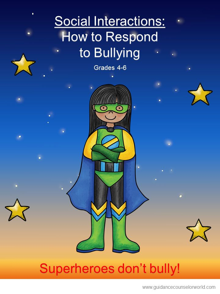 Guidance lesson on Social Interactions, for Grades 4-6.Teach students when they are bullied they have options of how to react, how to deal/respond with bullying. NEVER create another guidance lesson again with our aligned K-6 guidance lessons! We've got more GUIDANCE LESSON Plans, all which are aligned for grades K-6! Each lesson plan has a Word doc for each grade level and a PDF that includes all interactive activities and printables. Bullying | Social Interactions | Elementary Guidance…