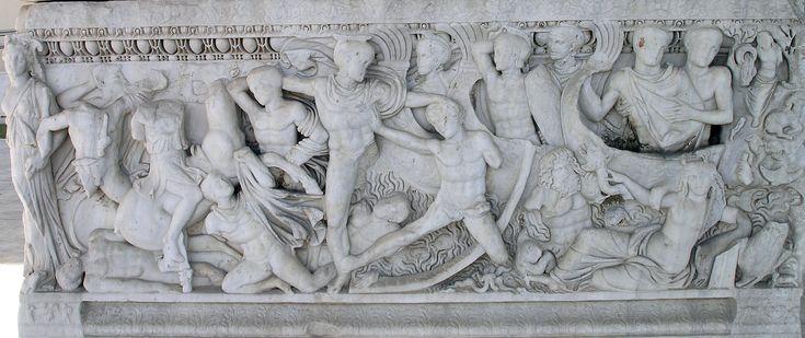THAM-Battle at the ships sarcophagus - Guerre de Troie — Wikipédia
