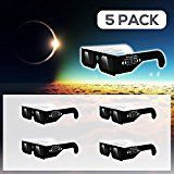 #8: Solar Eclipse Glasses by Agora Select  (5 Pack)  CE and ISO Certified Safe Shades Safety Glasses Eye Protection for Direct Sun Viewing Total Eclipse  August 212017  Includes Map On The Glasses!