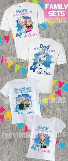 Frozen Family Birthday Shirts | Frozen Birthday Party | Frozen Party Ideas | Frozen Birthday Party Ideas | Frozen Family Shirts | Frozen Birthday Shirts | Birthday Party Ideas for Girls | Twistin Twirlin Tutus #frozenbirthday