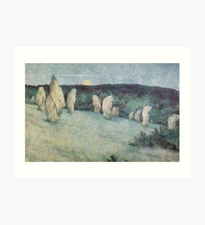 Postcard Theodor Kittelsen Kornstaur i måneskinn postkort by wetdryvac