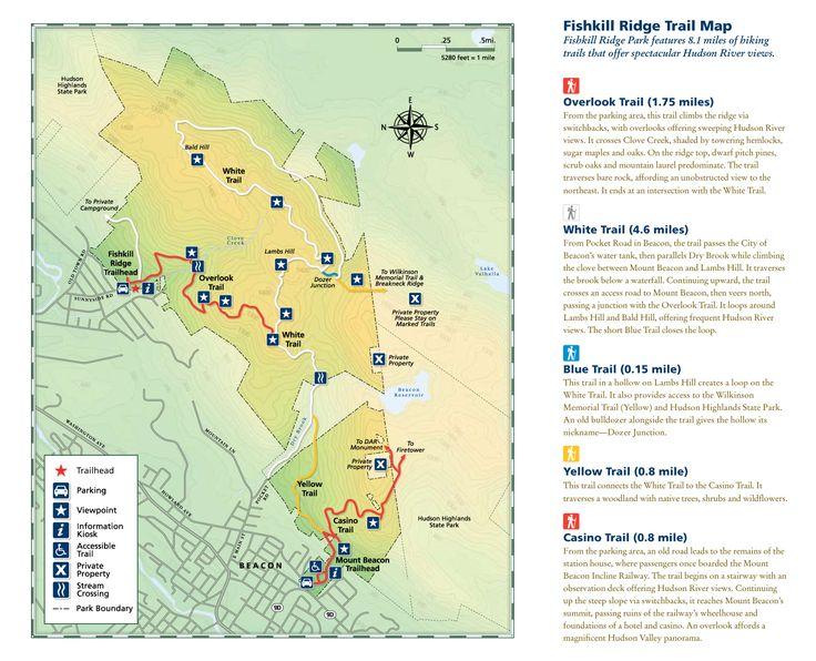 Fishkill Ridge Trail Map