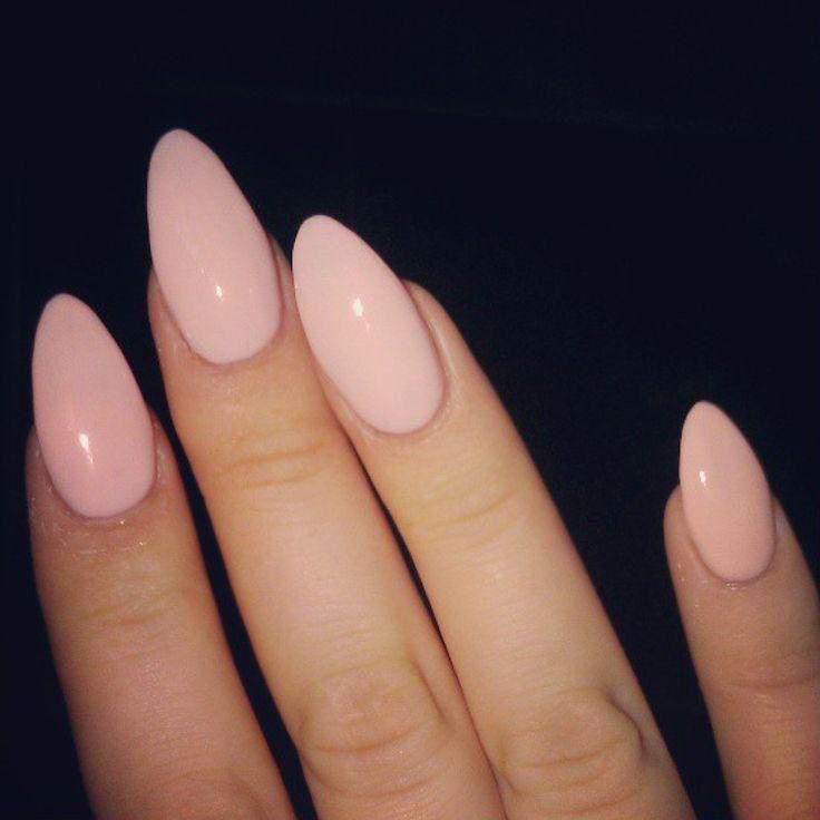 Pink/nude almond nails | Nail ideas | Pinterest | Almond nails ...