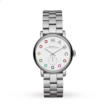 Ladies Watches - Marc by Marc Jacobs Ladies Baker Dexter Silver Steel Bracelet Watch - MBM3420