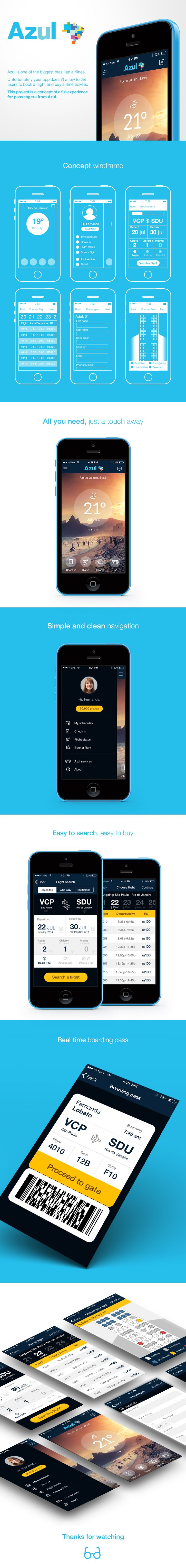 Azul Airlines – Iphone App #afsolution #kaoscommunication                                                                                                                                                      More