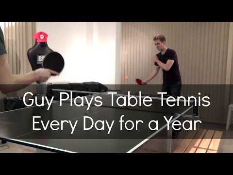 Guy Goes From Total Novice Ping Pong Player To Expert In The Course Of One Year #expertinayear #tennis #sports #inspiration #wtf #viral #practice