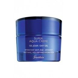 SUPER AQUA crème confort jour 50ml Guerlain mejor precio - Cosmeticos de Lujo Guerlain Super Aqua-Crème Day Gel provides your skin with soothing, age-defying hydration all day long. During your waking hours, the formula works to protect your skin, and at night it focuses on restoring so you wake up as fresh, beautiful and youthful as ever. It utilizes Aquacomplex, which purifies cellular water to improve circulation while giving you powerful age-defying hydration.