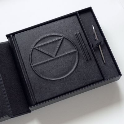 Visitors Book for VIP customers. Custom box with pen holder (and secret compartment)