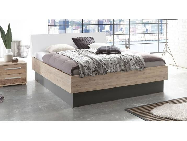 Bettkasten Bett Aus Akazienholz Mit Weissem Kopfteil 180x220 Cm