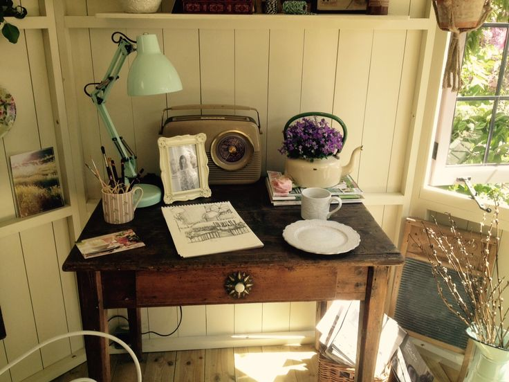 Summerhouse Interior with writing desk