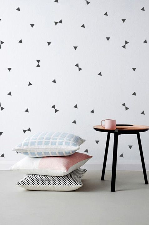 thecatspyjamasclub / triangle wall stickers