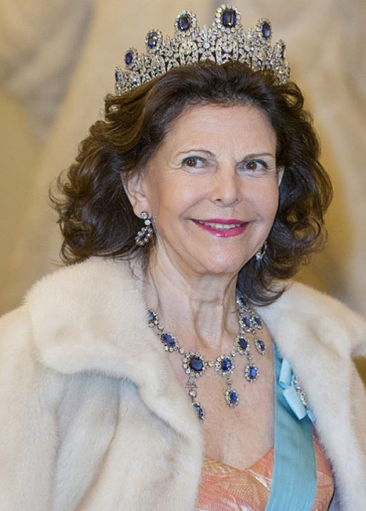 King Carl Gustaf and Queen Silvia of Sweden attended a Gala Dinner at Christiansborg Palace on the eve of The 75th Birthday of Queen Margrethe of Denmark on April 15, 2015 in Copenhagen, Denmark