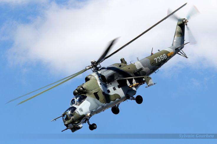 """Czech Air Force Mil Mi 24 """"Hind"""". Airshow 2015 - Royal International Air Tattoo RAF Fairford."""
