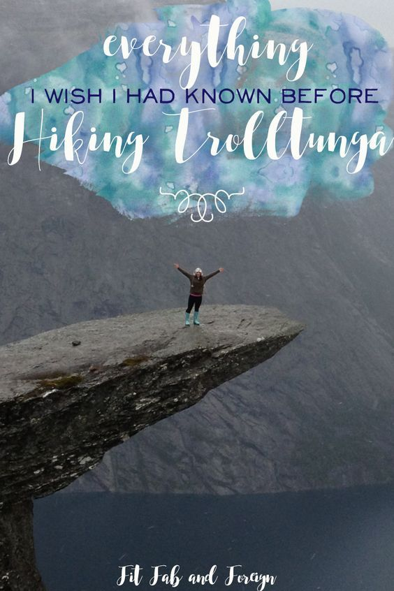 Everything I wish I had known before Hiking Trolltunga (Troll's Tongue) in Norway! This could save your life! #trolltunga #Norway #hiking #europe