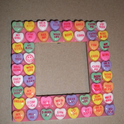Candy heart sayings frame!!