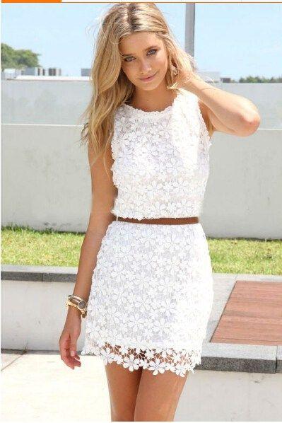 4025edaa Nueva llegada Ropa De Moda Vestido Casual Encaje Blanco | ROPA ESPAÑA #sexy  #mujer #ropa #moda