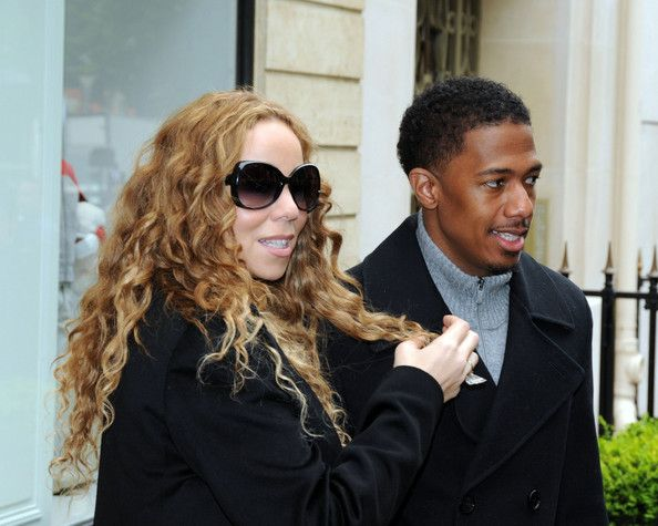 Singer Mariah Carey and husband Nick Cannon shop in the luxury boutiques Baby-Dior on Montaigne avenue and the Vuitton store on the Champs Elysees in Paris. - Mariah Carey and Nick Cannon Shop In Paris