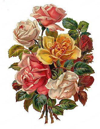 vintage valentine http://wordplay.hubpages.com/hub/valentines-day-flowers-clip-art-images
