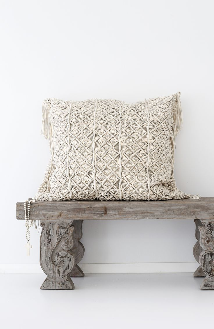 Losari Home & Woman - Kalyana Macrame Cushions losari.com.au