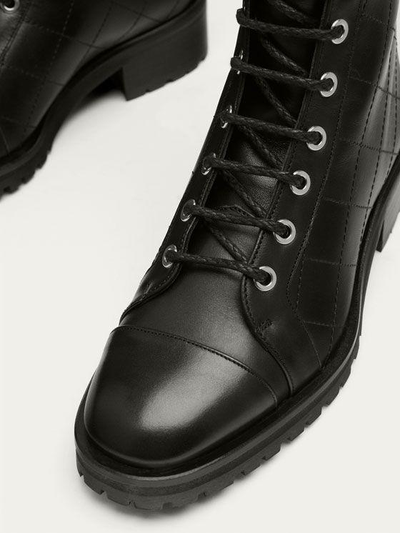 BOTIN MONTAÑA PIEL NEGRO de MUJER - Zapatos - Ver todo de Massimo Dutti de Otoño Invierno 2017 por 149. ¡Elegancia natural!