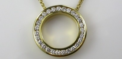 Diamonds for Her - Diamond Circle pendant, where your love runs out at the circles end.
