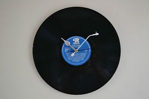 """Vinyl Record Wall Clock 12"""" - With record player needle £12.99"""