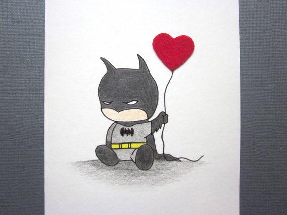 Tarjeta de amor inspirado bat