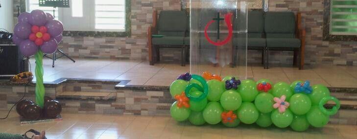 Decoracion para culto de ni os decoraciones en globos - Decoraciones para bebes ...