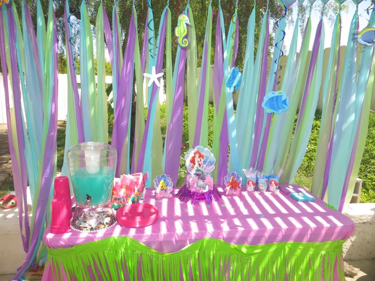 Arianna 39 s 3rd birthday party decorations the little for Ariel decoration ideas