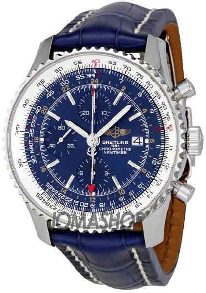 Breitling Navitimer World Blue Dial Chronograph Mens Watch. List price: $6665