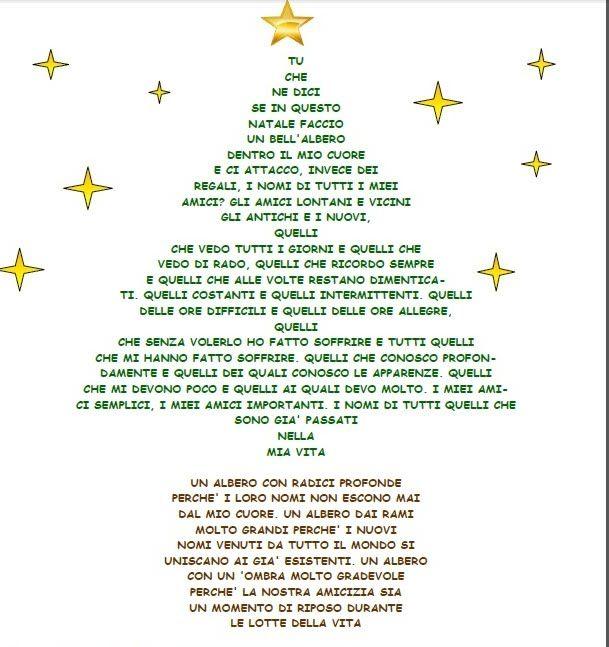 poesie di natale scritte forma di albero - Cerca con Google