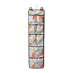 "NOTUDDEN door-mounted storage, multicolor, flowers and leaves Width: 10 ½ "" Height: 41 ¼ "" Width: 26.5 cm Height: 105 cm $9.99"