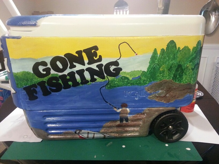 Gone fishing cooler coolers pinterest coolers for Best fishing coolers
