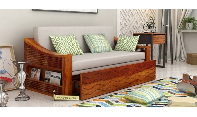 Get Best Deals on Thar Sofa Cum Bed (Honey Finish) at Wooden Street. Buy computer table Online with ✓ Elegant Designs ✓ Free Shipping in India.  #sofacumbed #Kochi #Mumbai #Noida #Pune #Vishakhapatnam #sofaset #Ghaziabad #Goa #Gurgaon #Hyderabad #Jaipur #Bangalore #Chennai #sofas #Coimbatore #Delhi #Faridabad