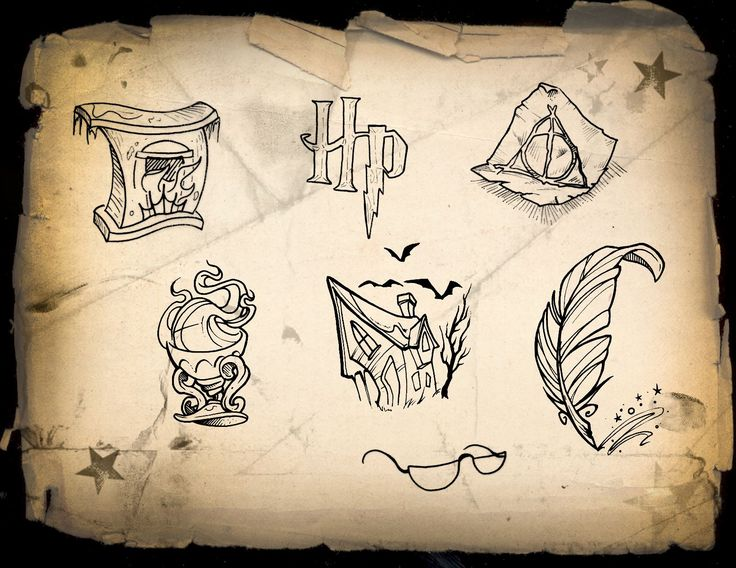 :Harry Potter Charity Day Flash Designs! Off the Map Tattoo :