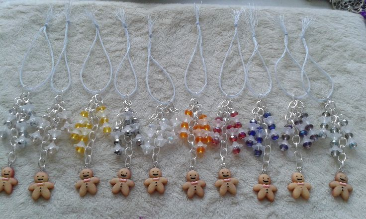 here is an example of a set of Christmas Tree decorations I made