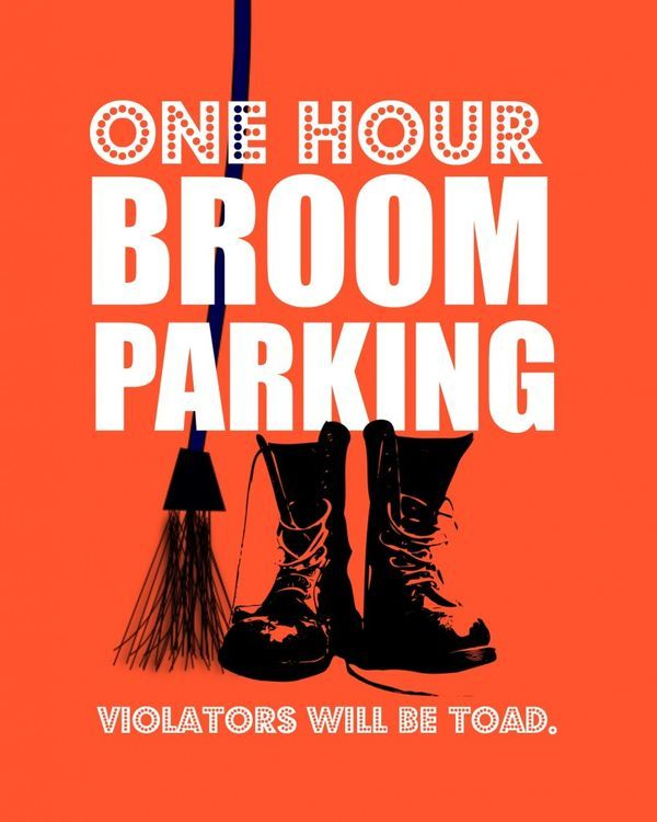 DIY Printable Witch's Parking Halloween Sign