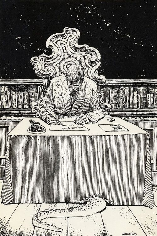 HP Lovecraft by Moebius, what what