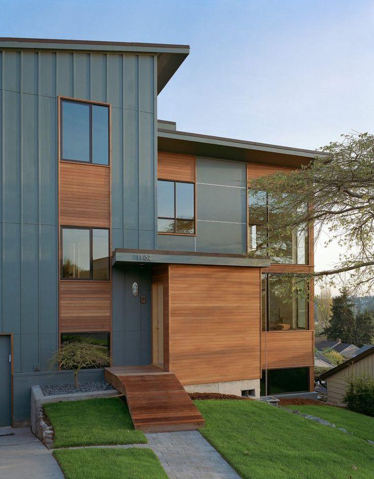 Contemporary Exterior Design Modern Wood Siding Modern House Exterior Elevation: Exterior Homes, Wood Cladding And Shiplap Siding