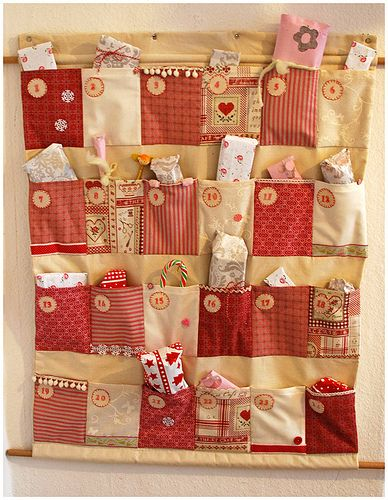 Advent calendar with presents