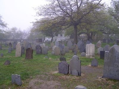 Oldest cemetery in Salem, Massachusetts.  <3   (i explored here)
