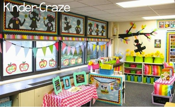 Rainbow Chalkboard Classroom decor and theme by Schoolgirl Style, Kinder-Craze www.schoolgirlstyle.com