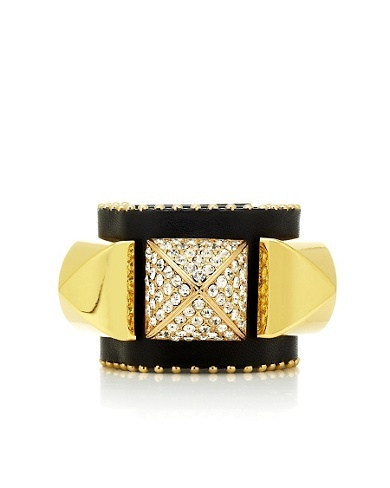 Pave Pyramid Leather Bracelet #glitterinjuicy #givemewhatIwant