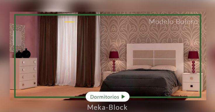 Bolero es un dormitorio especial, sencillo pero moderno con tiradores cuadrados y una agradable textura textil, el cabecero combina el color lino con el blanco dando un toque decorativo #dormitorio #blanco #moderno #oriental #minimalista #MB #mekablock