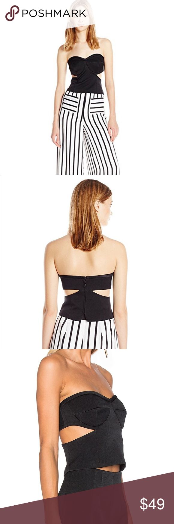 NWT Kendall and Kylie Bustier NWT Kendall and Kylie Tuxedo Cutout Strapless Bustier. Color: Black. Size: Medium. Feel free to ask any questions or make a reasonable offer. Kendall & Kylie Tops