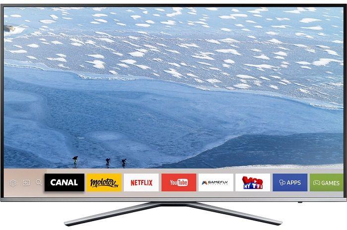 TV LED Samsung UE55KU6400 4K UHD pas cher prix Téléviseur 4K Darty 849,00 €