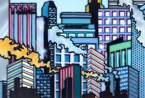Howard Arkley. Cityscape, 1990