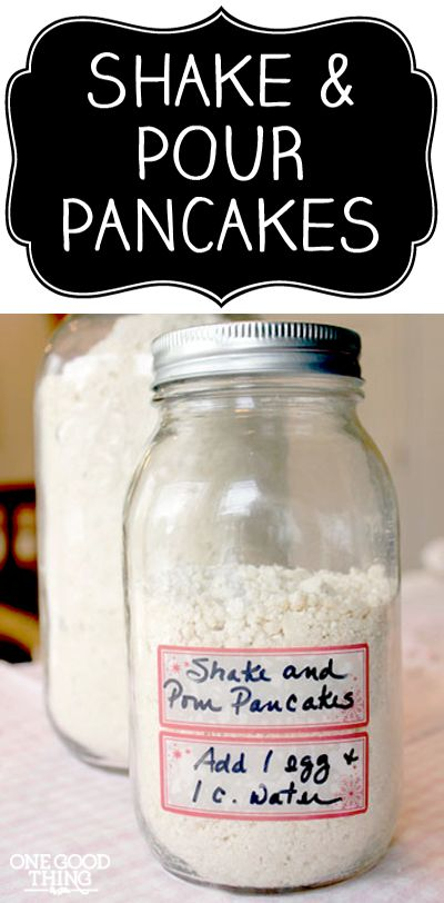 Homemade Instant Pancake Mix- great gift idea